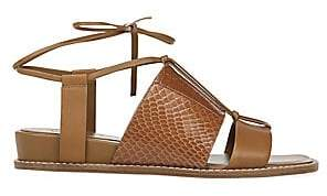 Vince Women's Forster Leather & Watersnake Leather Sandals