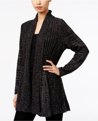 NY Collection Metallic Fishtail Cardigan $60 thestylecure.com