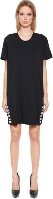 Versus Hidden Logo Cotton Jersey T-Shirt Dress