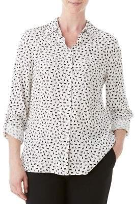 Olsen Spread Collar Blouse