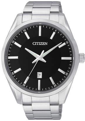 JCPenney Citizen Quartz Citizen Mens Black Dial Stainless Steel Watch BI1030-53E
