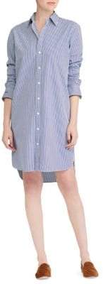 Polo Ralph Lauren Pinstriped Cotton Shirtdress