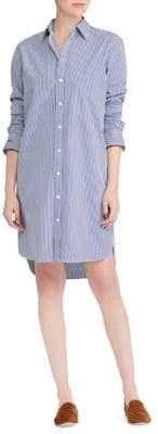 Polo Ralph Lauren Pinstriped Cotton Shirtdress