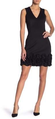 Donna Ricco Sleeveless Ruffled Dress