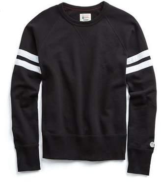 Todd Snyder + Champion Striped Raglan Sweatshirt In Black