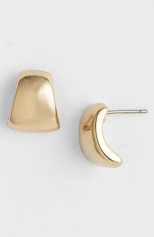 Anne Klein Small Half Hoop Earrings