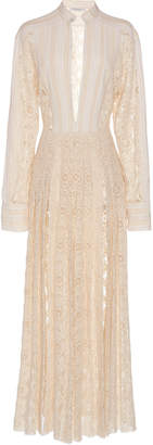 Philosophy di Lorenzo Serafini Deep V Slit Cotton Dress