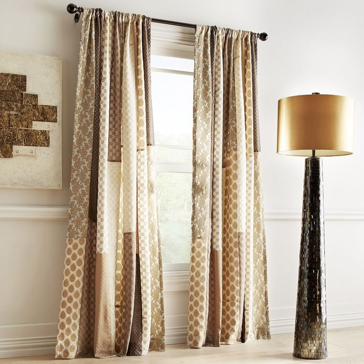 Pier 1 Imports Sari Patchwork Metallic Curtain Shopstyle