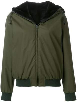 Holland & Holland reversible fur hooded jacket
