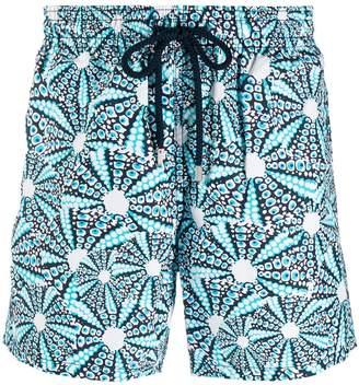 printed swim trunks