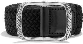 David Yurman Maritime Cable Buckle With Black Woven Belt