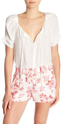 Joie Berkeley Front Tie Silk Blouse