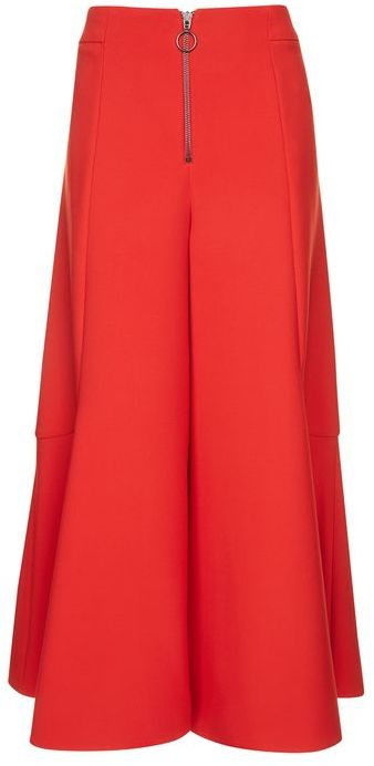 TopshopTopshop Frill zip palazzo trousers