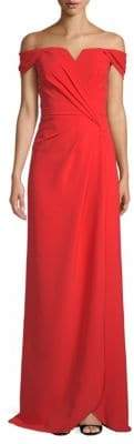Off The Shoulder Floor-Length Gown