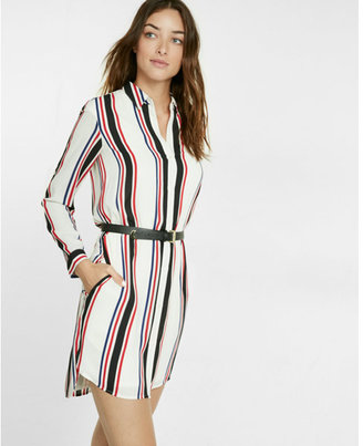 Express striped shirt dress $79.90 thestylecure.com