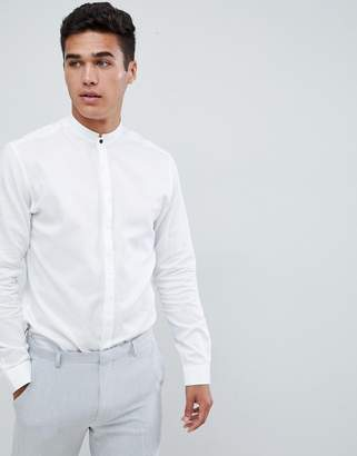 Jack and Jones Smart Shirt With Formal Stand Collar