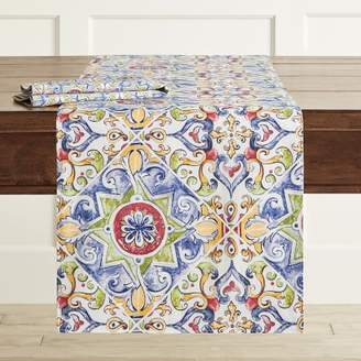 Williams-Sonoma Williams Sonoma Italian Tile Table Runner