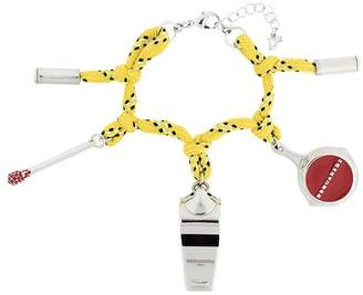 DSQUARED2 camping cord charm bracelet