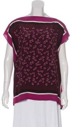 Gucci Silk Scarf Blouse Pink Silk Scarf Blouse