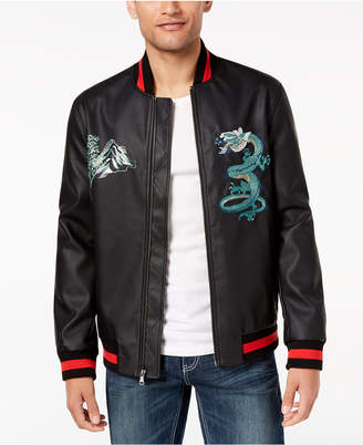INC International Concepts I.n.c. Men's Embroidered Dragon Varsity Bomber Jacket, Created for Macy's