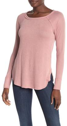 Lucky Brand Boatneck Long Sleeve Thermal Top