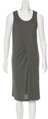 Balenciaga Sleeveless Midi Dress w/ Tags Grey Sleeveless Midi Dress w/ Tags