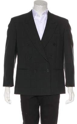 Givenchy Vintage Double-Breasted Plaid Wool Blazer
