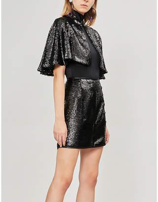 DE LA VALI Lexi sequinned mini skirt