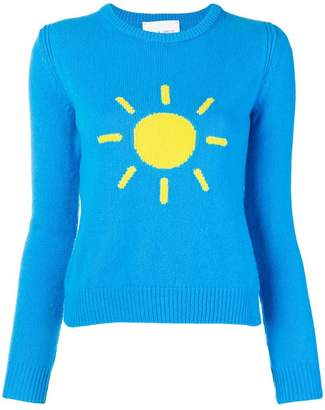 Alberta Ferretti crew-neck sunshine sweater