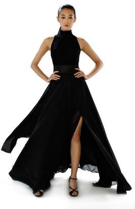 Theia - High Neckline Chiffon Long Dress 882286 $459 thestylecure.com