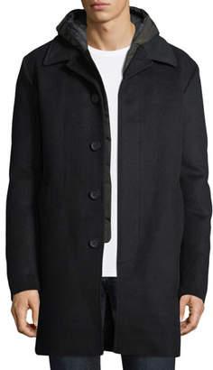 Mackage Wool-Blend Coat w/ Removable Down Bib