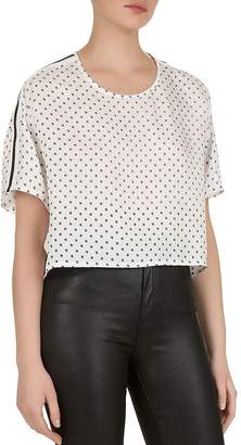 The Kooples Striped Micro-Floral Top