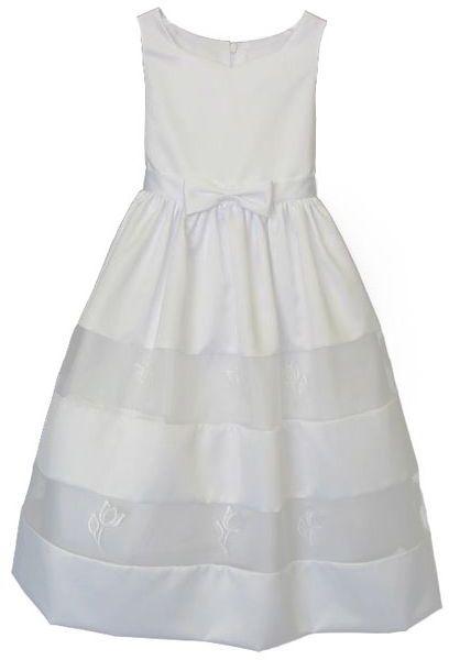 Jayne copeland toddler satin & organza dress