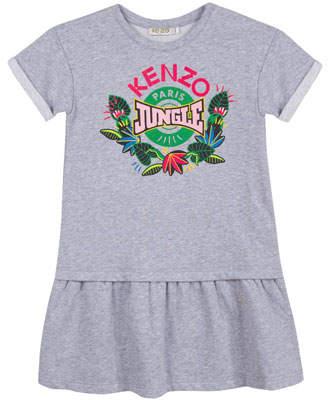 Kenzo Jungle Drop-Waist Dress, Size 8-12