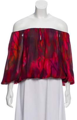 Alice + Olivia Silk Printed Blouse