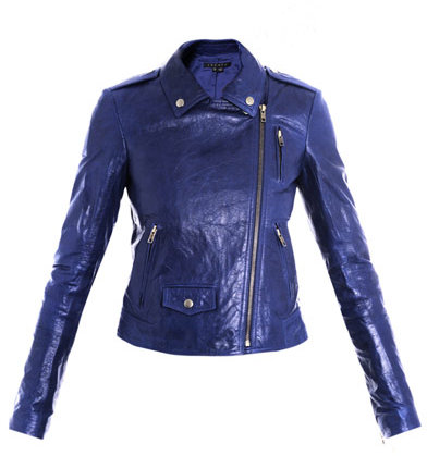 Theory Elenian textured-leather jacket