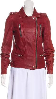IRO Leather Zip-Up Jacket