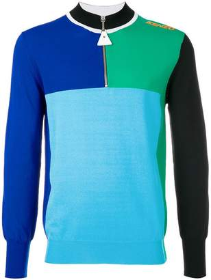 Kenzo colour block zipped sweater