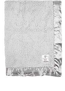 Little Giraffe Chenille Baby Blanket-Silver