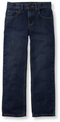 L.L. Bean L.L.Bean Boys' Double L Straight Leg Jeans, Unlined