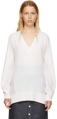 Rag & Bone White Cashmere Sabreena V-Neck Sweater