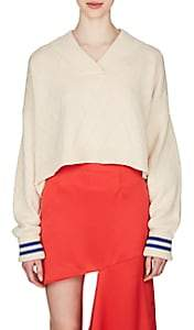 Maison Margiela Women's Wool Crop Sweater - Beige, Tan