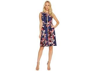 Adrianna Papell Spliced Floral Print Jersey Dress Women's Dress