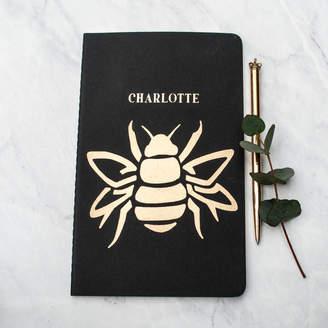 Bumble Bee Thebridge & Taylor Luxury Bumblebee Personalised Notebook