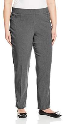 Briggs Women's Plus Size Super Stretch Millennium Welt Pocket Pull on Career Pant