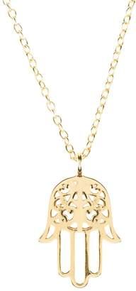 Latelita London - Cosmic Hamsa Necklace Gold