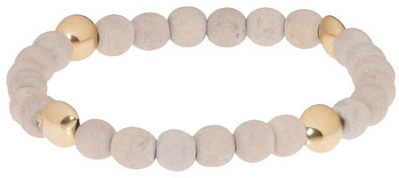 Orka Mesica White Friendship Beads