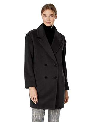 Lark & Ro Women's Double Breasted Drop Shoulder Cocoon Coat