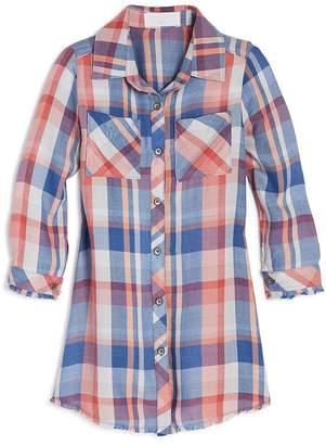 Bella Dahl Girls' Plaid Shirt Dress - Little Kid, Big Kid
