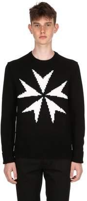 Neil Barrett Star Wool Knit Sweater
